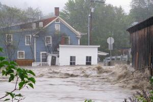 Parts of Vermont suffered severe flooding after 2011's Hurricane Irene.