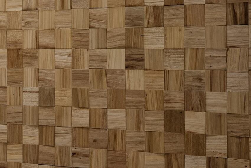 IndusParquet's Wood Tile Mosaic