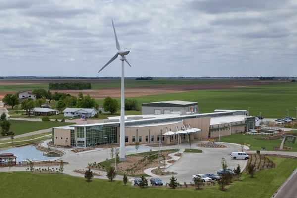 The 50,000-square-foot Kiowa County Memorial Hospital in Greensburg, Kan., achieved LEED Platinum certification at a 5-percent capital cost premium.