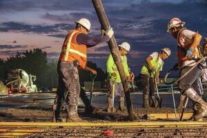 Oltmans' crews pour more than 300,000 cubic yards of concrete per year.