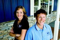 Business partners, Maija Kropp and Don Katzenberger. Brand-building helped fuel the growth of their company, S&K Roofing, Siding and Windows, in Eldersburg, Md.