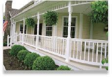 Figure 17. With the goal of fast installation, Royal Outdoor Products' railing uses a fastener-free connection between the balusters and the railing.