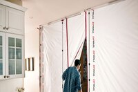 ZipFast Reusable Dust Barrier Panel System from ZipWall