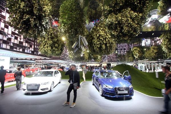 Audi Pavilion at the Frankfurt Motor Show.