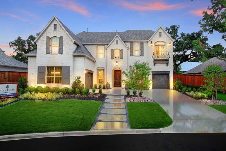 A model home in Scott Felder Homes' Highland Oaks development.