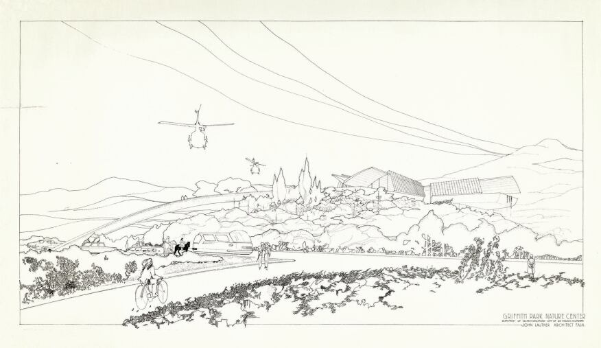 John Lautner's unbuilt 1972 Griffith Park Nature Center.