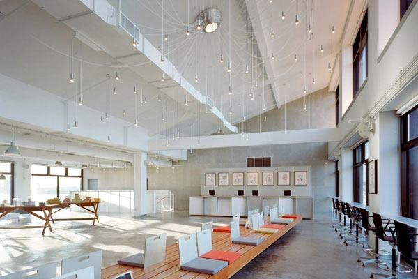 Bumble and bumble corporate headquarters, school and salon in New York, New York by Anderson Architects.