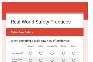 Tool Safety Survey