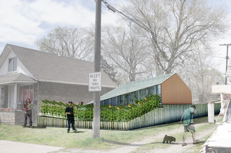 After: When complete, the Afterhouse will feature a year-round underground greenhouse as well as a seasonal garden porch, which complements the neighborhood vernacular.