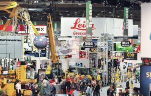 Industry pros peruse the equipment at World of Concrete.
