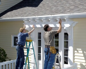 With many PVC products, such as this trellis, ready†to install out of the box, remodelers can offer improved curb appeal without the labor involved in fabricating pieces from scratch.