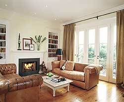 Bathroom fittings: Barand, Rohl, Sunrise Specialty; Bathroom fixtures: Kohler, Barand, American Standard; Dishwasher: Frigidaire; Fireplace: Superior; Flooring (tile): Latco; Flooring (wood): Plyboo; Garbage disposer: Kitchenaid; Hardware: Baldwin, Schlage; HVAC: Carrier; Insulation: Owens Corning; Interior paneling: U.S. Gypsum.