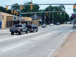 The intersection's new pavement gave the neighborhood a serious upgrade.