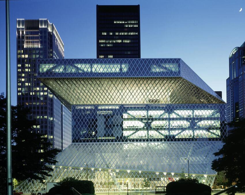 Seattle Central Library, in Seattle, by OMA / LMN