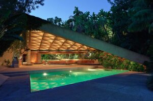 "James Goldstein has just announced that he will donate his landmark Los Angeles residence — designed by architect John Lautner --€"" to the Los Angeles County Museum of Art. ""Minimal is the word ... "" he says. ""Everything is simple and at the same time beautif"