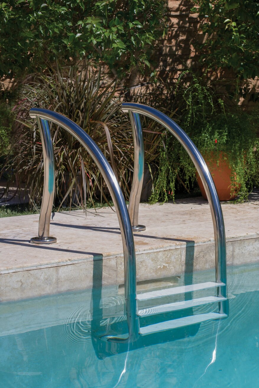 New Designer Swimming Pool Ladders Released From Inter Fab