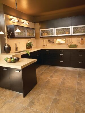 Woodharbor. CastPointe frameless cabinetry is crafted with Environmentally Preferred Products made from 100% recycled material and compliant with California CARB regulations for formaldehyde emissions. The cabinetry is available with a low-VOC, formaldehyde-free topcoat available in 38 spray stain color combinations and 32 spray stain/glaze color combinations. 641.423.0444. www.woodharbor.com.