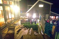Deck Collapse Injures Eight