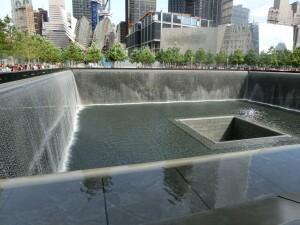 The National September 11th Memorial in Lower Manhattan.