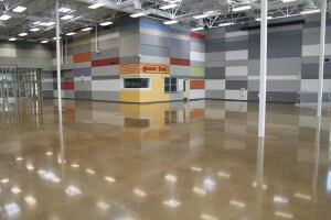 The new West Career & Technical Academy in Las Vegas features more than 50,000 sq. ft. of polished concrete.