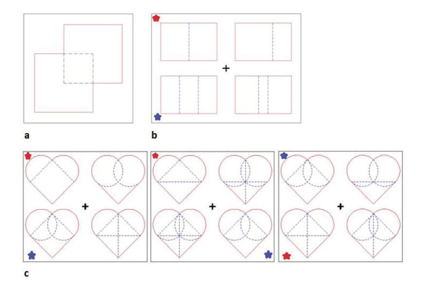 Shapes that Sudhir Pasala and his colleagues used in their research on spatial perception