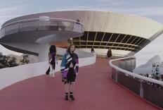 Watch Louis Vuitton Models Walk the Niterói Contemporary Art Museum Catwalk