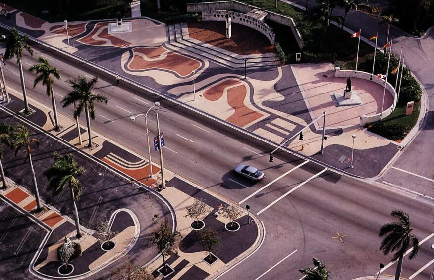 Biscayne Boulevard, Miami, designed by Roberto Burle Marx, 1988-2004.