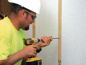 Extra Buffer EnergyMax panels separate exterior walls from interior sheetrock.