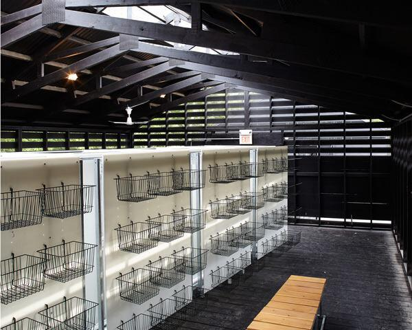 Interior, changing facility.