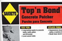 Sakrete + Top 'n Bond cement repair mortar