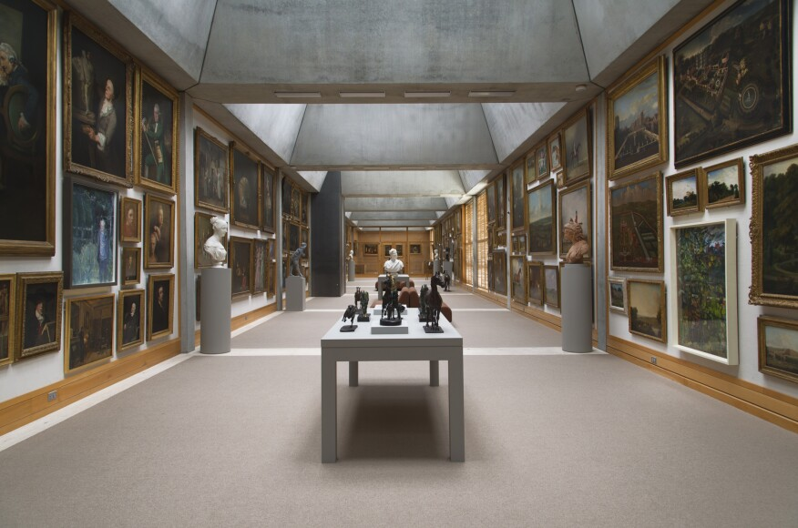 The fourth-floor Long Gallery at the Yale Center for British Art