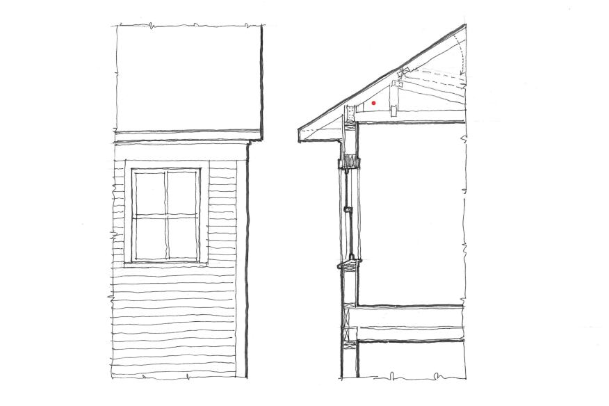 In prefab building, module size is subject to shipping laws, but adding an architrave can sometimes work. With cozy, cottage-scale homes, lower the window heads to nonstandard heights to add a proper frieze.