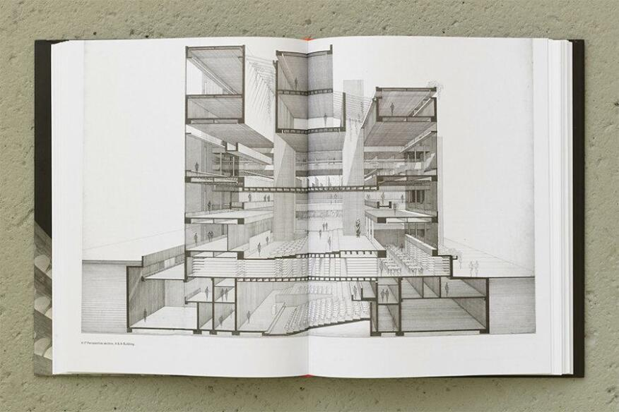 Perspective section of the A & A Building