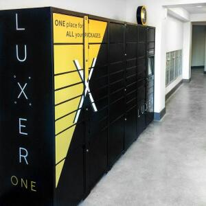 Package lockers are starting to become more popular across the multifamily industry as property managers realize the value of not being in the package delivery business. Image courtesy Luxer One