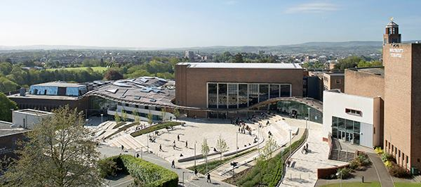 The Forum's freeflowing gridshell mirrors 