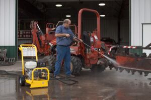 Cold pressure washers aren't the best bet for a multivehicle work fleet.