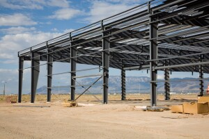A building under construction in Albuquerque. The Santolina master-plan will now be able to form public improvement districts in order to make up building costs.
