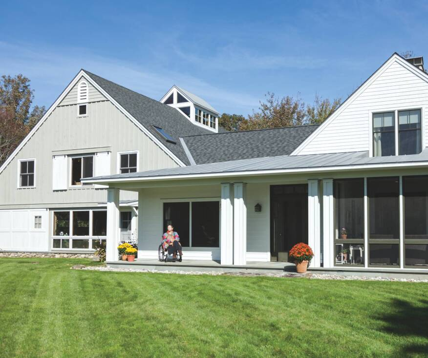 siting the building close to grade creates a strong connection to the landscape a no - Maine Home Design