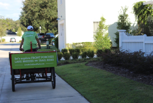 At a fall open house for Realtors, visitors to Oakland Park received pedicab rides through the community.
