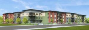 The Trailwinds Apartments in Garden City, Idaho, will include 10 one-bedroom, 38 two-bedroom, and 16 three-bedroom units in a three-story building.