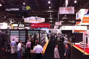 A view of the trade show floor during Lightfair 2012 in Las Vegas. Credit: Elizabeth Donoff