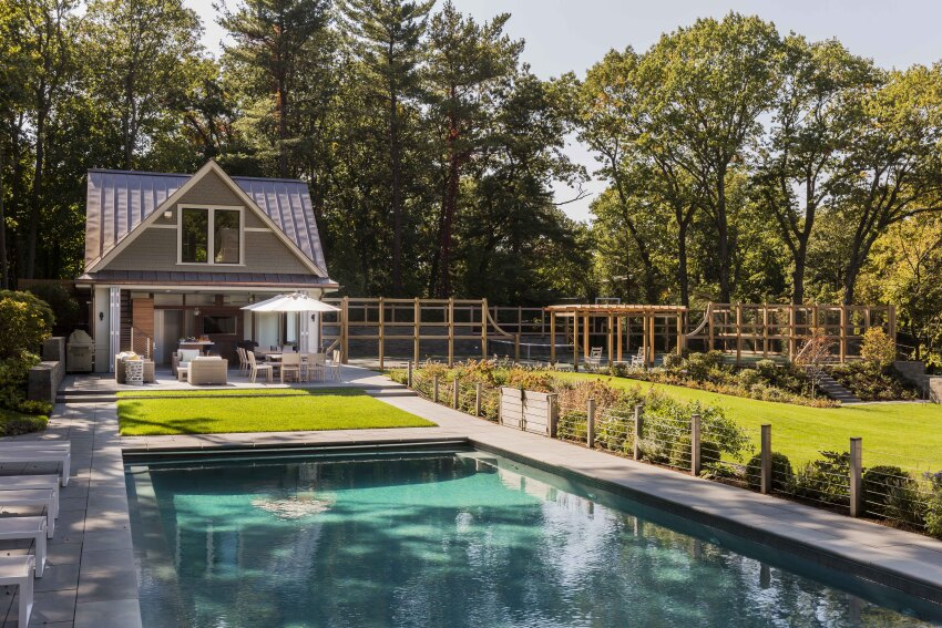 Hilltop Gambrel Pool House
