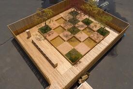 Checkerboard Water Garden