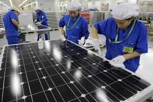 View inside the China Solar factory in Hangzhou.