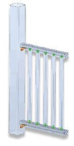 Figure 15. Gossen's railing-system balusters are held in place with proprietary clips to speed installation.