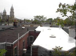 The city saysawhite roof reflects heat and keeps houses cooler.