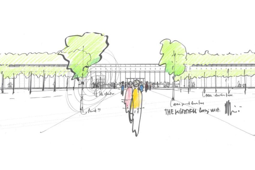 The Renzo Piano Pavilion at the Kimbell Art Museum: Drawings