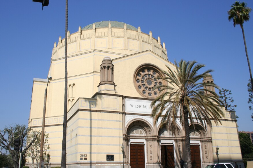 The Wilshire Boulevard Temple in Los Angeles.