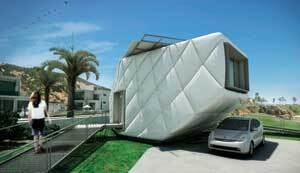 SPACE INVADER: The Southern California Institute of Architecture and Cal Tech joined together for this year's Solar Decathlon to create a home sheathed in architectural vinyl. Other entries were much more traditional.