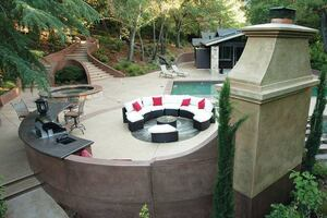Sculpting Hillsides with Decorative Concrete